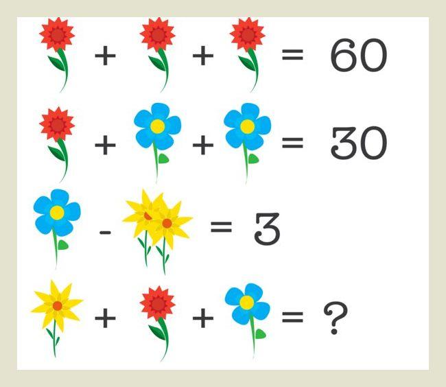 problema de logica matematica flores