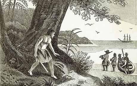 robison crusoe llegada barco
