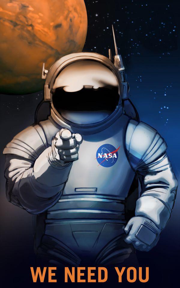te necesitamos poster reclutamiento NASA (1)
