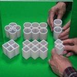 ¿Cómo funciona la ilusión óptica de los cilindros ambiguos?