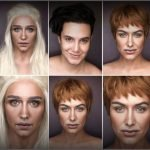 Artista usa maquillaje para transformarse en personajes de Game Of Thrones