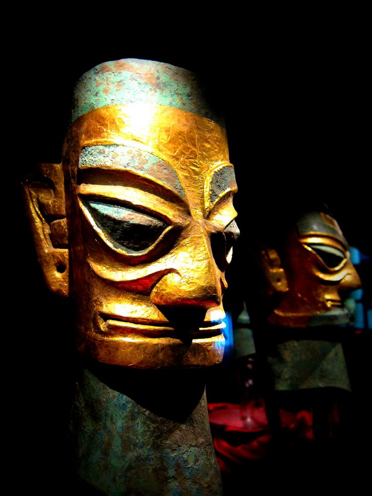 mascara de oro Sanxingdui