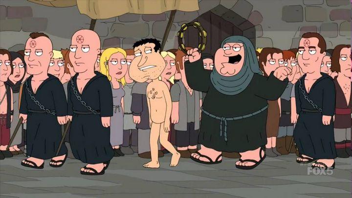 parodia family guy caminata cersei shame