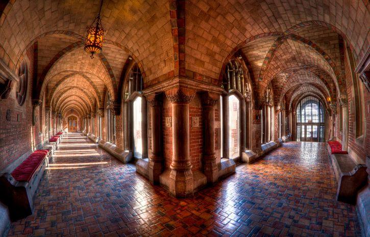 pasillos de la universidad de Chicago