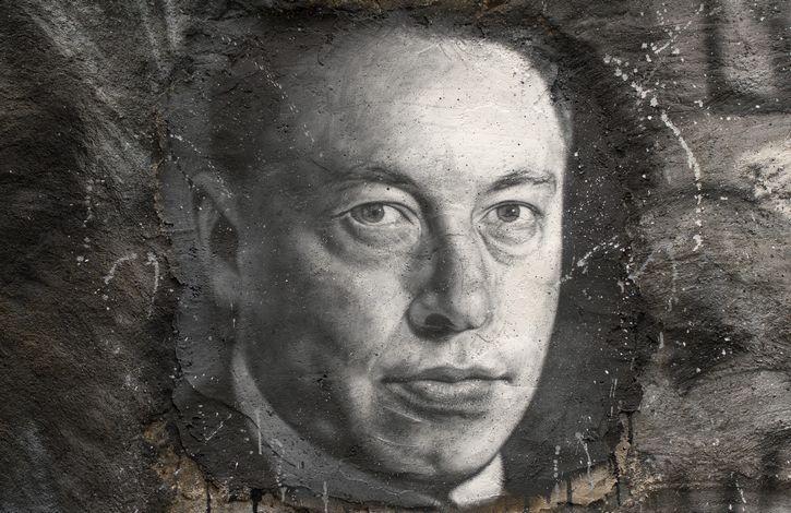 pintura de Elon Musk