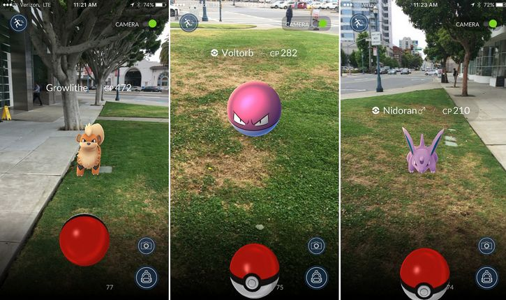 pokemon go interfaz realidad aumentada