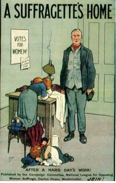 sufragistas carteles contra el derecho de voto mujeres (3)