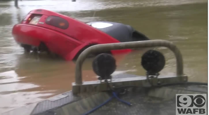 auto inundacion