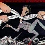 6 carteles sobre la hipocresía de los Aliados en la Segunda Guerra Mundial
