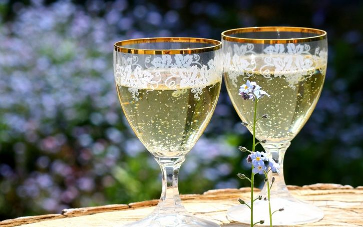 copas de champaña