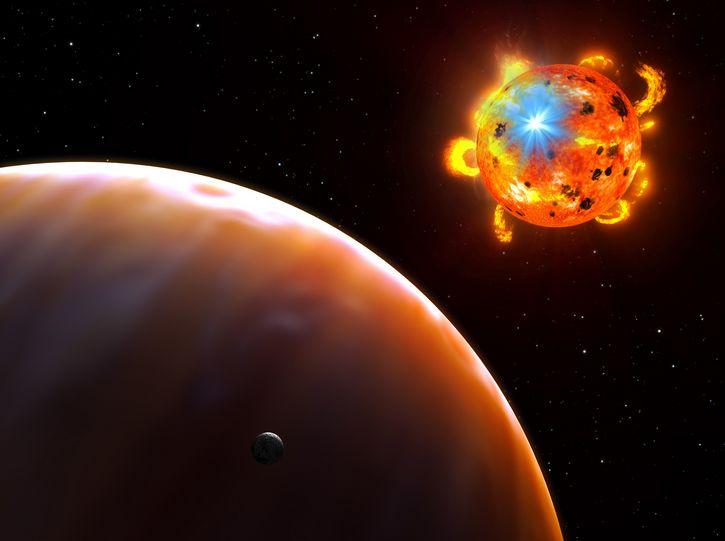 estrella luminosa espacio