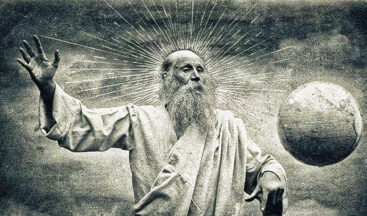 figura de dios controlando el mundo