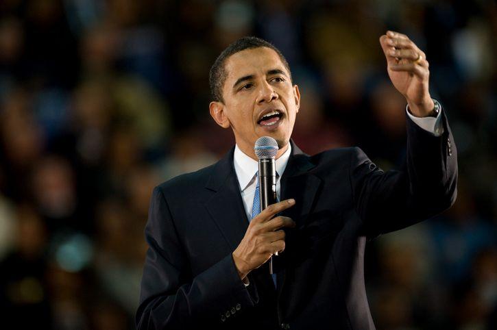obama al microfono