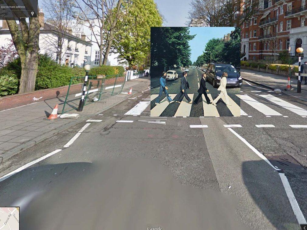 portada de discos clasicos en Google Street View (1)