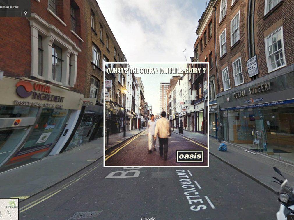 portada de discos clasicos en Google Street View (2)