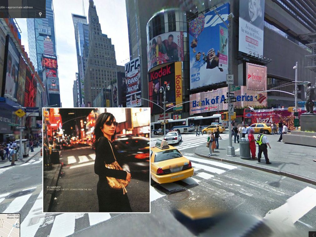 portada de discos clasicos en Google Street View (3)
