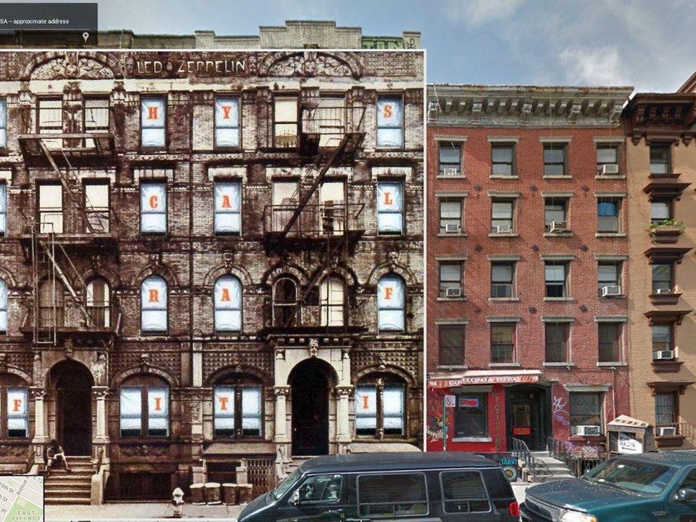 portada de discos clasicos en Google Street View (4)