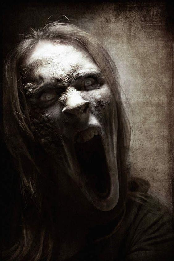 terror rostro macabro