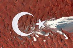 Banderas de países hechas con fotografías satelitales
