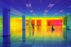 El edificio arcoíris en Biennial Bristol