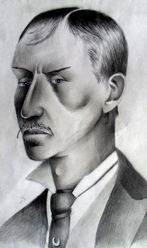 Retrato de Louis Deimschutz, recreado a partir de un dibujo de la Investigación forense por el artista William McKay.