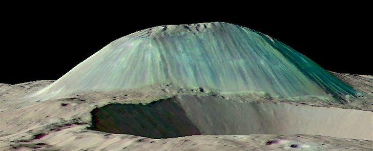 volcan de agua y sal en Ceres