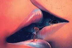 Artista ilustra mundos surrealistas inspirados en Miyazaki y Tim Burton
