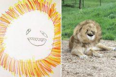 """Padre transforma dibujos de su hijo en animales """"reales"""""""