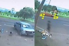 Video muestra supuesto espíritu saliendo del cuerpo en accidente vial