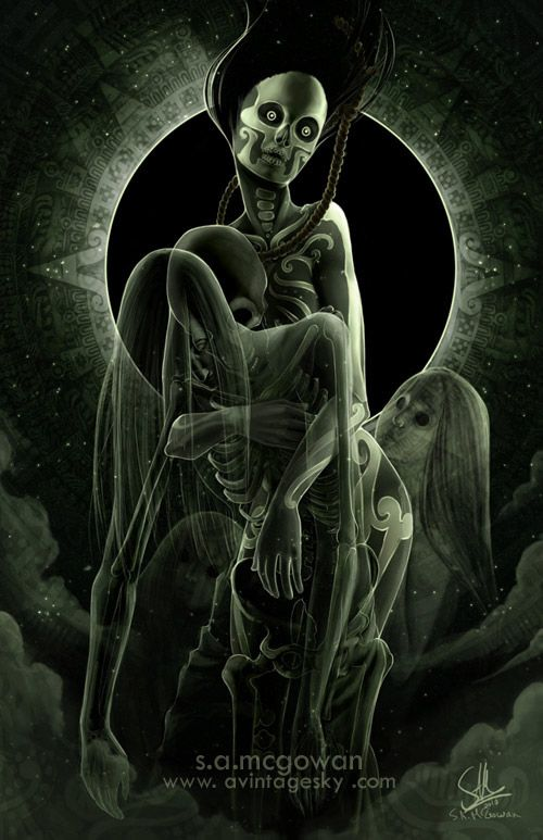 diosa suicidio maya