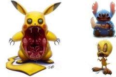 Este artista transforma tus personajes favoritos en monstruos