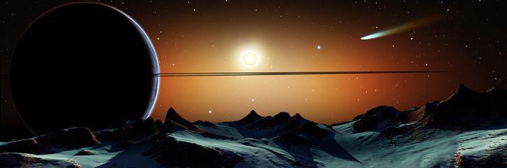 planeta vista ilustracion