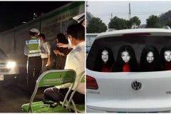 En China aplican medidas extremas a conductores que usan luces altas sin razón