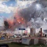 Dantesca explosión en mercado de pirotecnia en Tultepec