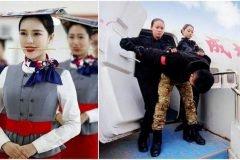 El estricto entrenamiento de las aeromozas chinas