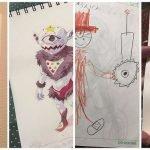 Transforma garabatos de sus hijos en animes increíbles