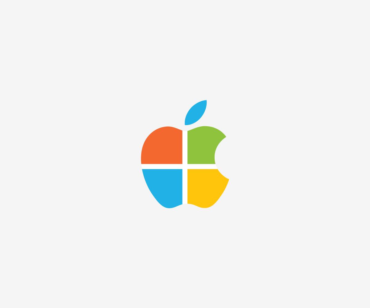 Logos combinados apple y microsft