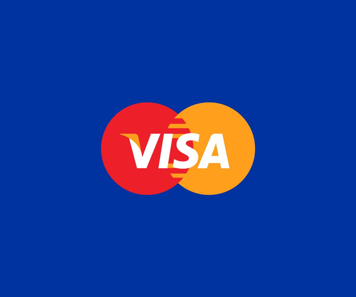 Logos combinados visa y mastercard