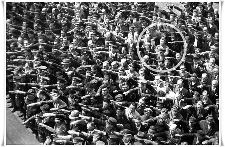 nazi desafiante August Landmesser