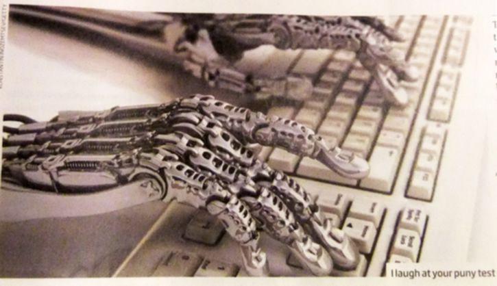Robot escribiendo