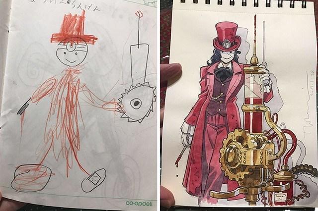 tranforma dibujos niños en anime (1)