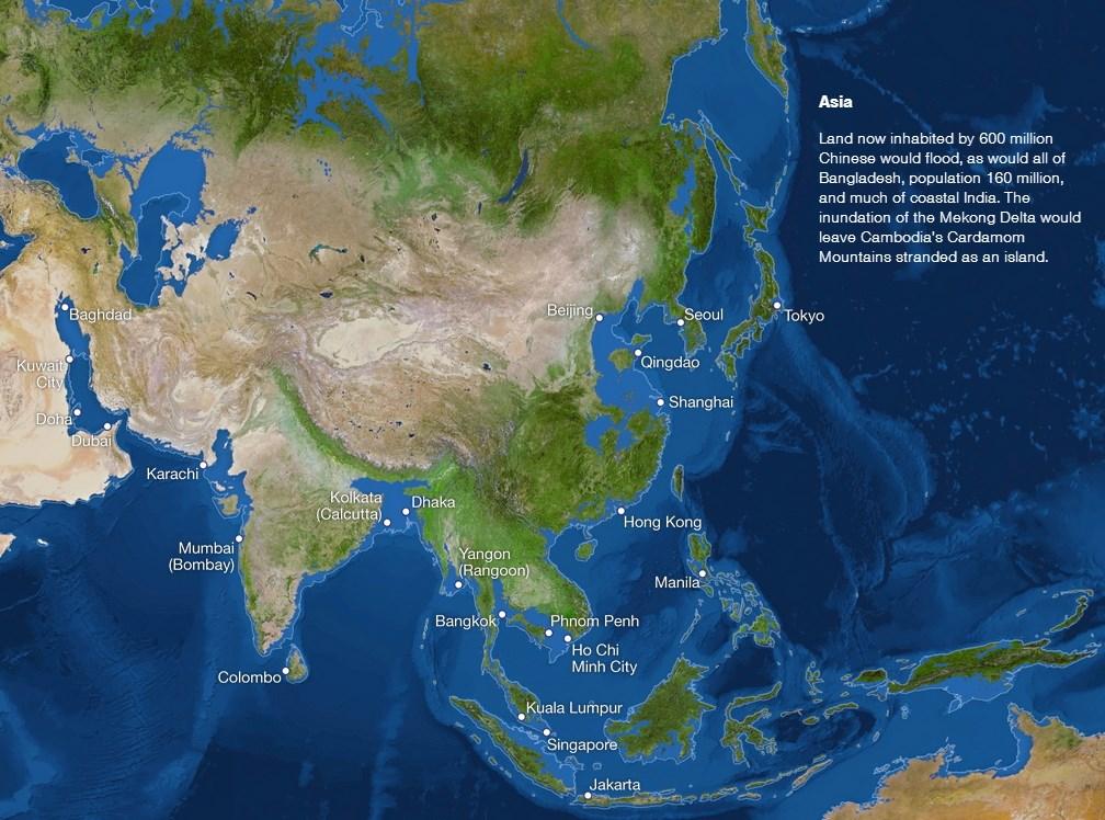 La Tierra sumergida asia