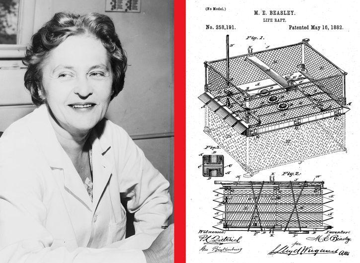 Maria Beasley patente balsa salvavidas