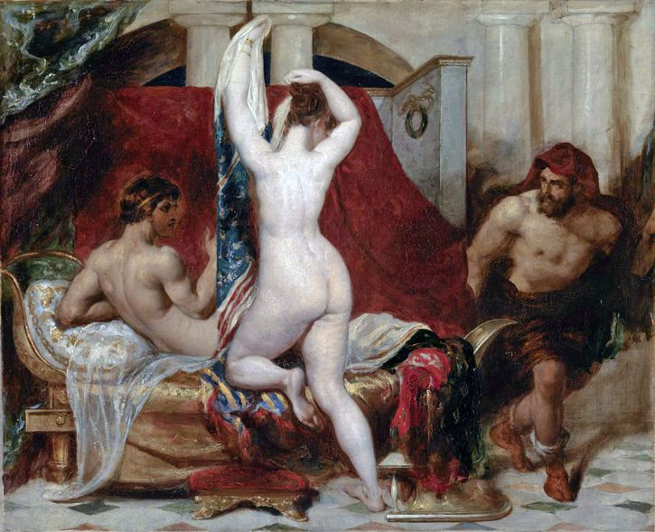 William Etty Candaules pintura
