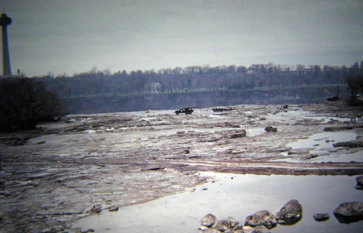 catarata Estadounidense seca 1969 lecho superior de la caida