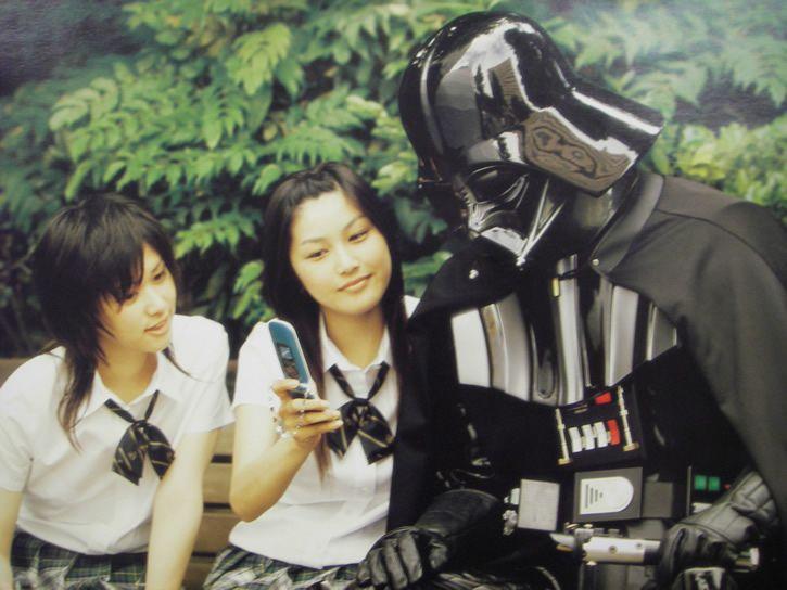 cultura en japon darth vader y estudiantes