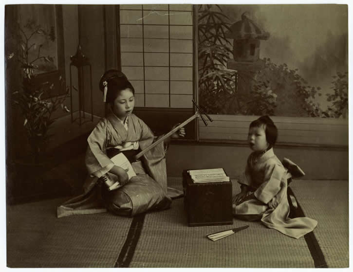 foto antigua familia japonesa