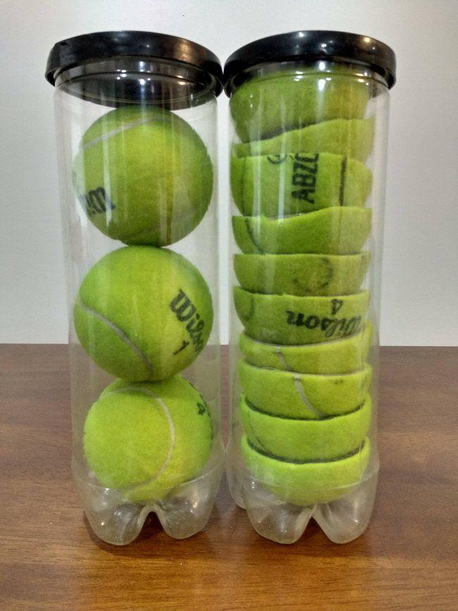 pelotas tenis cortadas
