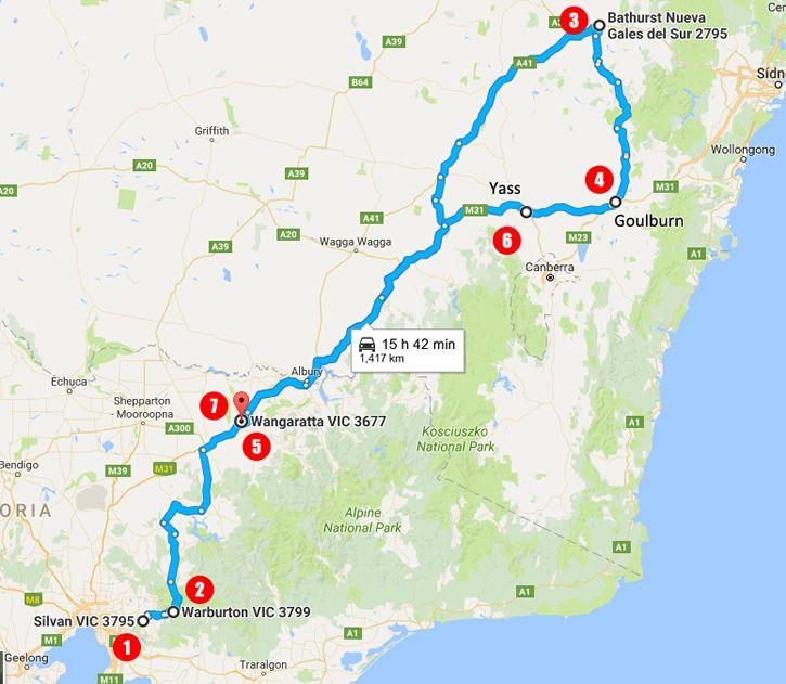 recorrido de la familia tromp en australia