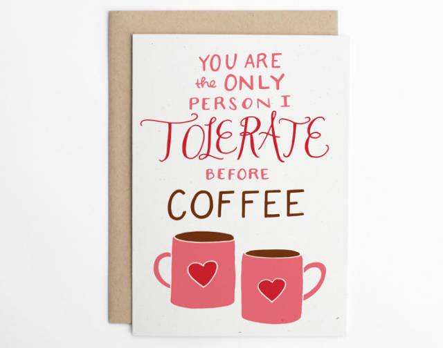 tarjetas san valentin divertidas cafe